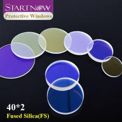 Startnow Quartz Fused Silica-beschermingslens 40X2mm laserbeschermraam Voor YAG-lasmachine voor vezelsnijden