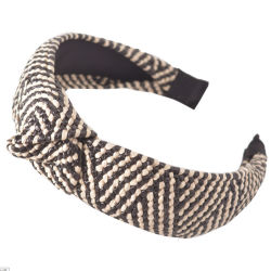 Traversa della paglia degli accessori dei capelli con la fascia Handmade dei capelli della fascia del bordo largo