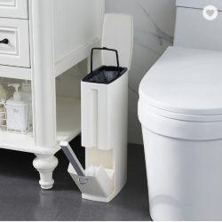 다목적 욕실 쓰레기통 화장실 통합형 세트 플립 핸들 라이너 휴지통