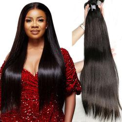 Offres bon marché de gros Remy Hair cuticule alignés 100 % Pure vierge non transformés de l'armure des extensions de cheveux humains brésilien naturel