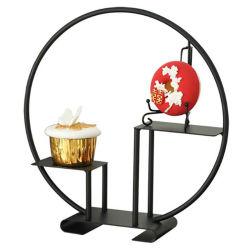 Decoración de bodas pantalla metálica para rack de almacenamiento de alimentos Cake Stand