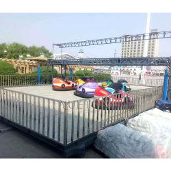 Atracción al aire libre Carnaval de juegos móviles portátiles comerciales Precio SUELO suelo de rejilla de parachoques eléctrico coche con remolque montado