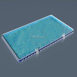 Personalizadas OEM bastidor rectangular de metal, Piscina, Piscina para el entretenimiento