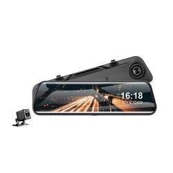 媒体のバックミラーの前部および後部二重レンズの無光沢の夜間視界の逆像を流す新しい運転のレコーダーHDの12インチ