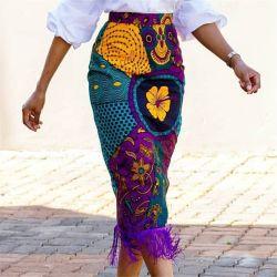 Groothandel New Fashion Design Dames Bloemenjurk Meisje blouse Rokken Vrouwen′ S Bohemian Style Print lange Maxi rok