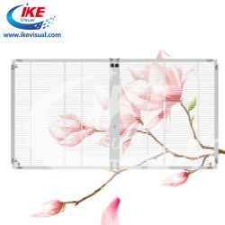 Прозрачный светодиодный индикатор для отображения окна рекламы Transpanent светодиодный экран в Китай с сетчатой светодиодный дисплей