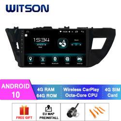 Witson Android 10 2014-2016 Autoradio pour Toyota Corolla 4 Go de RAM 64 Go de mémoire Flash grand écran dans la voiture lecteur de DVD