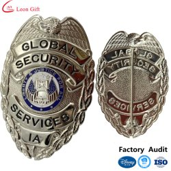 BSCI Disney Certified Factory Custom Metal Logo 3D الجيش شرطة شارة درع زر الأمان في الولايات المتحدة
