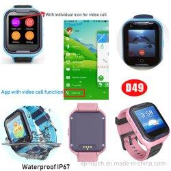 4G 실시간 영상 외침 GPS 로케이터 아이 GPS 추적자 시계 D49