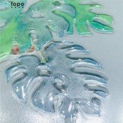 كثير العصارة يزرع فنّ صورة زيتيّة زخرفيّة زجاجيّة ([مر-ب6-2052ا])