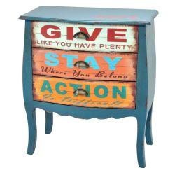 По-французски и немного потрёпанными стильный деревянный шкаф мебель