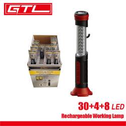 Tragbare LED wiederaufladbare Arbeitslicht Auto Inspektionslampe, LED-Taschenlampe USB Wiederaufladbare Arbeitslampe mit Hakenlampe für Home Camping Notfall (65290005)