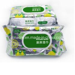 ماسحة رطبة متعددة الأغراض غير منسوجة للاستعمال المنزلي متعددة الأغراض ومبطلة للاستعمال مرة واحدة