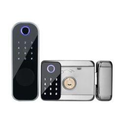 Chave de Segurança do Bluetooth WiFi Remote APP Fingerprint Senha fechadura de porta inteligente da RIM
