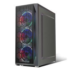 Cristal Negro fluindo High-End Blet RGB do painel de vidro temperado 120mm caso PC de jogos do Ventilador