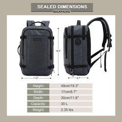 Gran bolsa de viaje Mochila para portátil con puerto USB de carga, la Mochila escolar antirrobo con bloqueo de la bolsa de colegio se adapta a 17.3 pulgadas portátil