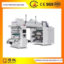 6 Цвета центрального барабана мешок из полимера/бумага/PE/BOPP/Non-Woven Bag Flexographic Ке/Flexo печатной машины с хорошим регистрации