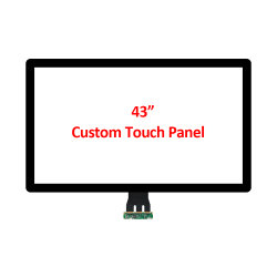 Zoll Soem-ODM 43 Zoll-Pcap hervorstehendes kapazitives multi 10 Punkt USB-Screen-Panel mit hoher empfindlicher Wartefühler USB-Schnittstelle für optische Masseverbindung LCD