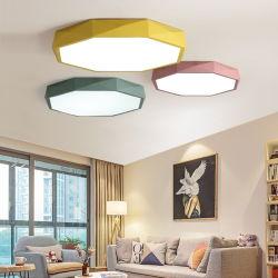 Ultra-Thin 5cm LED 천장 램프 철 둥근 까만 백색은 착색한다 천장 빛 (WH-MA-04)를