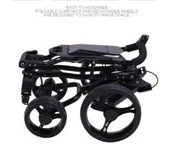 Carrello da golf in alluminio pieghevole leggero con quattro ruote di qualità IGH Carrello da golf con telecomando