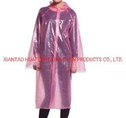 防水ジャケットの使い捨て可能なレインコートのレインコート