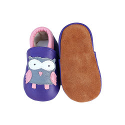 جلد الأولى ووكر أحذية الأطفال سول ناعم جلد الصبي أحذية الأطفال الرضع غير Slip