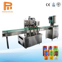 Projet clés en main l'aluminium de l'étain peut Boissons Gazeuses boisson énergétique de la bière de lait chaud thé de jus de café de sauce miel Canning machine de conditionnement d'étanchéité de remplissage