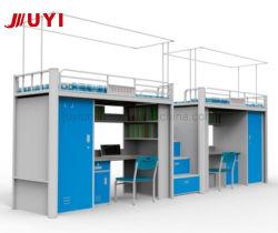 현대적인 디자인 학교 가구 기숙사 금속 이층 침대 책상 옷장