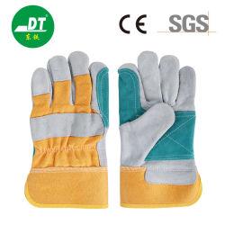 Gelbes Tuch Zwei - Finger Gato-Verstärkte Rindsleder Schweißhandschuhe