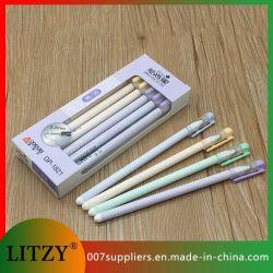 El tubo de aguja completa directamente de fábrica un bolígrafo de tinta negra de 0,2 mm de llenado de plumas para la escuela y oficina Regalo Promocional Gp-1821