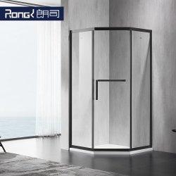 Badkamer Huishoudelijke RVS getemperd glas doucheruimte met schuifbare douche Deur