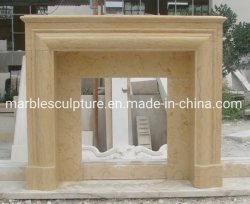 Низкая цена простой стиль мраморные скульптуры из камня камин (SYMF-310)