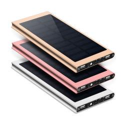 Carregador portátil de bateria solar de alta capacidade para campismo à prova de água de 30000mAh Solar Powerbanks Mobile Chargers para telemóvel