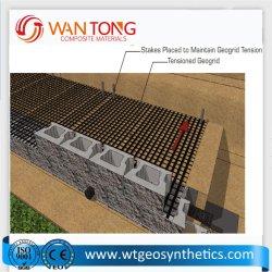 China Kurbelgehäuse-Belüftung beschichtete die Polyester Geogrid Rollenverzerrung, die für Asphalt-Verstärkung strickt