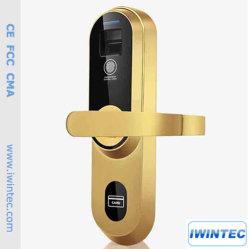 L'intérieur de porte de chambre d'empreintes digitales, empreintes digitales numériques de verrouillage de serrure de porte, sans clé de verrouillage d'empreintes digitales