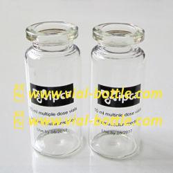 10ml svuotano le bottiglie steroidi con il marchio nero stampato con il Silk-Screen a temperatura elevata di alta qualità