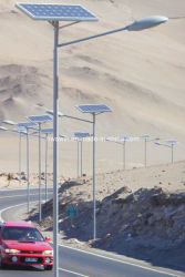 ضمان لمدة 3 سنوات مع إضاءة الشوارع المفتوحة الشمسية LED بقدرة 24 واط