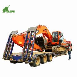 3개의 차축 트레일러 수송은 낮은 로더 갱부 트레일러를 기계로 가공한다