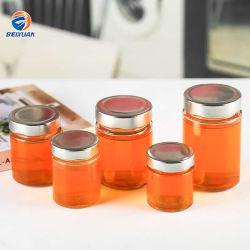 Food Grade Frasco de vidrio 380 ml Claro Vidrio Jarra de almacenamiento para espesar mermeladas miel