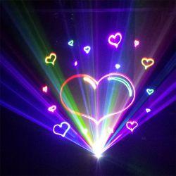 2W лазерный луч света DJ оборудование программируемые RGB Полноцветный диско лазерного диода