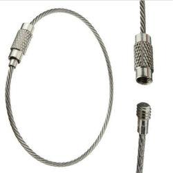 Kabel-Schlüsselkette des Edelstahl-15cm