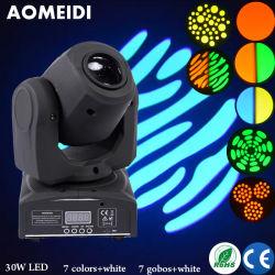 30Вт Светодиодные перемещение головки Disco ламп проектора Gobo рождественские украшения