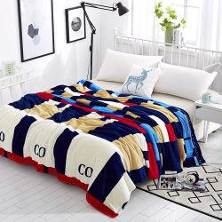 100%년 폴리에스테 최고 연약한 Flannel 산호 침대 시트 양털 담요