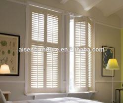 Personalizar la ventana de madera duradera ecológica Obturadores de plantación