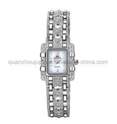 ساعة الكوارتز المعدنية كريستال المعصم من قبل OEM مع معجة معدنية