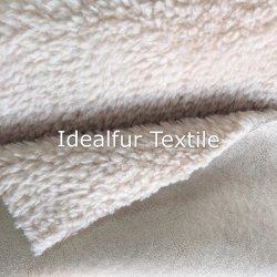 模造ウールのプラシ天の衣服のための巻き毛の短い山の毛皮
