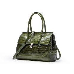 2019女性のための最も新しいブランドデザイナー袋のワニパターン財布の本革のハンドバッグ