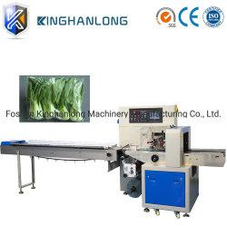 Продажи на заводе в горизонтальном положении поток чехол машина для упаковки капусты белокочанной капусты наматывание материала упаковки