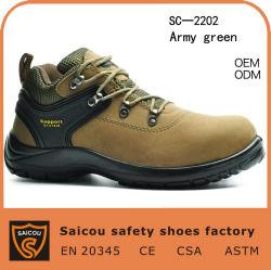 """4 Homens"""" de aço em pele genuína Toe Pulseira Calçado de segurança (SC-2202)"""