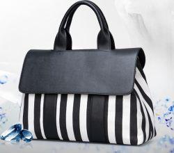 Frauen-Schwarzweiss-Stadtstreicherin Handtasche (WDL0115) der Dame-Handtaschen-Handbeutel-Qualitäts-Replik-Handtaschen-heiße Verkaufs-Schulter-Dame-Bag Simple Women Bag
